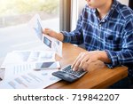 business accounting people ... | Shutterstock . vector #719842207