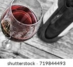 holiday of young wine. red wine ...   Shutterstock . vector #719844493