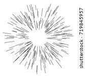 sun burst  star burst sunshine. ... | Shutterstock .eps vector #719845957
