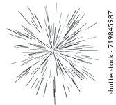 sun burst  star burst sunshine. ... | Shutterstock .eps vector #719845987