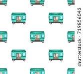 wagon  single icon in cartoon... | Shutterstock .eps vector #719856043