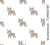 lynx  single icon in cartoon... | Shutterstock .eps vector #719856787