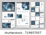 website template design with... | Shutterstock .eps vector #719857057