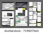 website template design with... | Shutterstock .eps vector #719857063