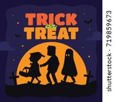 halloween trick or treat... | Shutterstock .eps vector #719859673