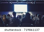 business conference and... | Shutterstock . vector #719861137