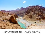 the ziz river flowing through... | Shutterstock . vector #719878747