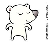 polar bear cartoon | Shutterstock .eps vector #719893057