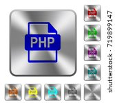 php file format engraved icons... | Shutterstock .eps vector #719899147
