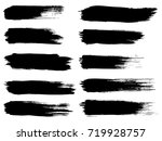 collection of artistic grungy... | Shutterstock . vector #719928757