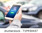 mobile parking app on... | Shutterstock . vector #719930437