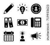 business icon set | Shutterstock .eps vector #719933623
