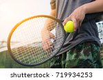 the light and the tennis. | Shutterstock . vector #719934253