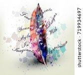 fashion conceptual background... | Shutterstock .eps vector #719934697