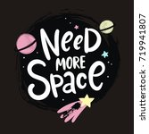 need more space lettering.... | Shutterstock .eps vector #719941807