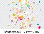 vector multicolored confetti on ... | Shutterstock .eps vector #719949487