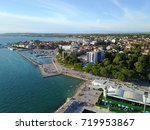 aerial view to adriatic sea | Shutterstock . vector #719953867