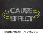 text cause and effect. cause... | Shutterstock . vector #719957917