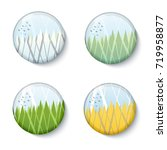 four season round landscape... | Shutterstock .eps vector #719958877