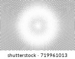 back and white dotted halftone... | Shutterstock .eps vector #719961013