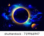 space background with planets ... | Shutterstock .eps vector #719966947