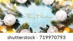 christmas and new year s...   Shutterstock . vector #719970793