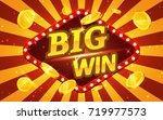 vintage style marketing banner... | Shutterstock .eps vector #719977573