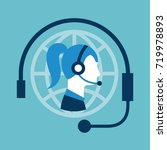 customer service call center... | Shutterstock .eps vector #719978893