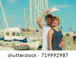 travel tourism and people... | Shutterstock . vector #719992987