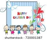 happy children's day | Shutterstock .eps vector #720001387