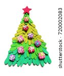 christmas tree from plasticine... | Shutterstock . vector #720002083