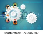 business meeting and... | Shutterstock .eps vector #720002707