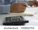 hand woman doing finances and... | Shutterstock . vector #720003793