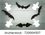 halloween holiday background...   Shutterstock . vector #720004507