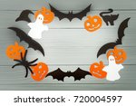 halloween holiday background... | Shutterstock . vector #720004597