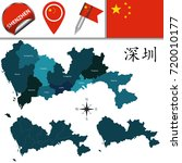 vector map of shenzhen with... | Shutterstock .eps vector #720010177