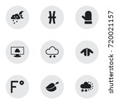 set of 9 editable weather icons....
