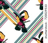 seamless pattern with cute and... | Shutterstock .eps vector #720029533