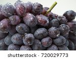 fresh ripe blue grapes with... | Shutterstock . vector #720029773