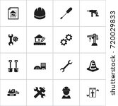 set of 16 editable building...