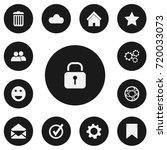 set of 13 editable network... | Shutterstock .eps vector #720033073