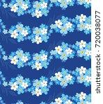 seamless vector floral pattern... | Shutterstock .eps vector #720038077