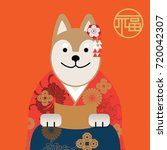 year of dog 2018  invitation... | Shutterstock .eps vector #720042307
