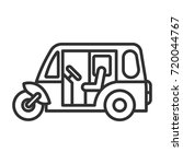 auto rickshaw   Shutterstock .eps vector #720044767