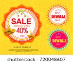 vector illustration of diwali... | Shutterstock .eps vector #720048607