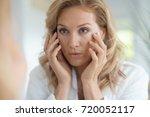 portrait of attractive blond... | Shutterstock . vector #720052117