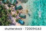 tobacco caye aerial in belize... | Shutterstock . vector #720054163