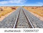 railway tracks and train... | Shutterstock . vector #720054727