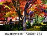 enkouji is autumn a beautiful... | Shutterstock . vector #720054973