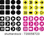 different type of vector arrows | Shutterstock .eps vector #720058723